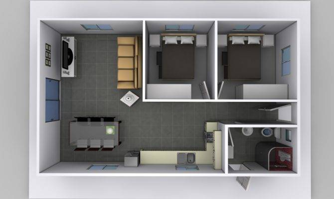 Two Bedroom Granny Flat Plans Australia