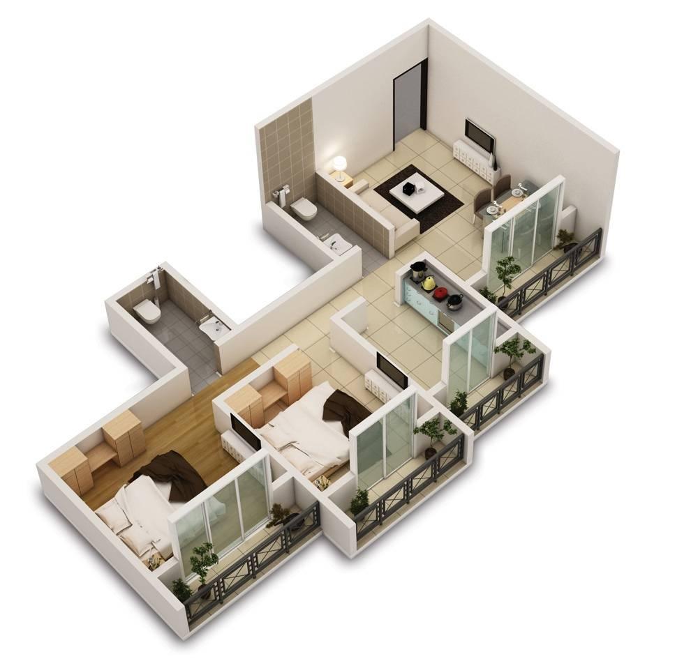 21 Best 2 Bed Room Floor Plan House Plans