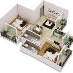 Two Bedroom House Apartment Floor Plans