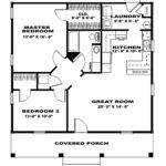 Two Bedroom House Plans Cottage Floor
