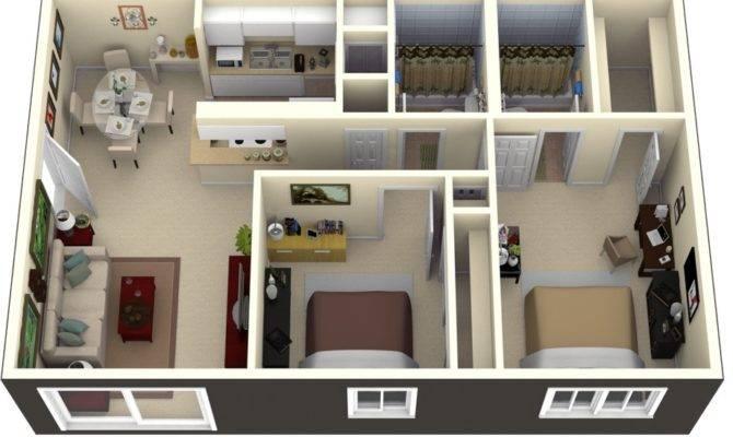 Two Bedroom House Plans Loft Bungalow