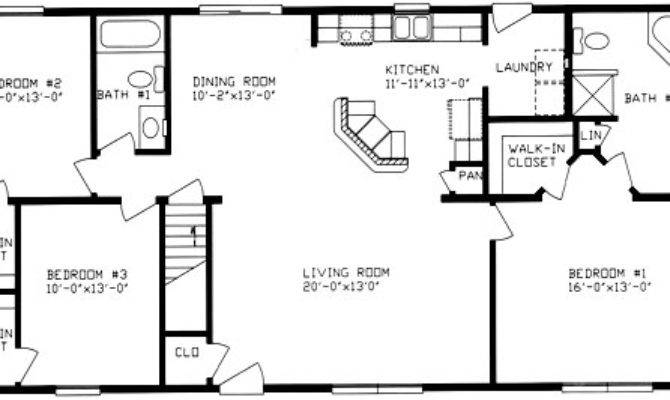 Two Bedroom Ranch House Plans Homes Floor
