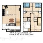 Two Bedroom Townhouse Floor Plan Bedrooms Rent