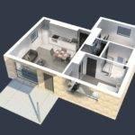 Two Bedroom University Apartment Plan