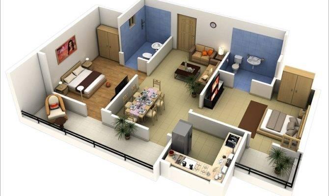 Two Bedrooms Baths Balconies Double Comfort