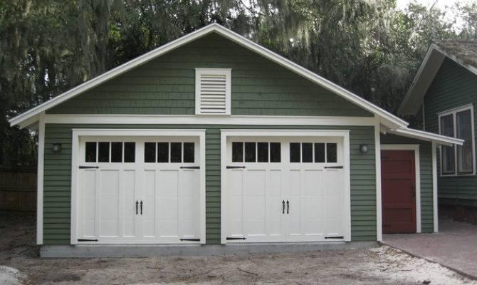 Two Car Bungalow Garage Craftsman Shed