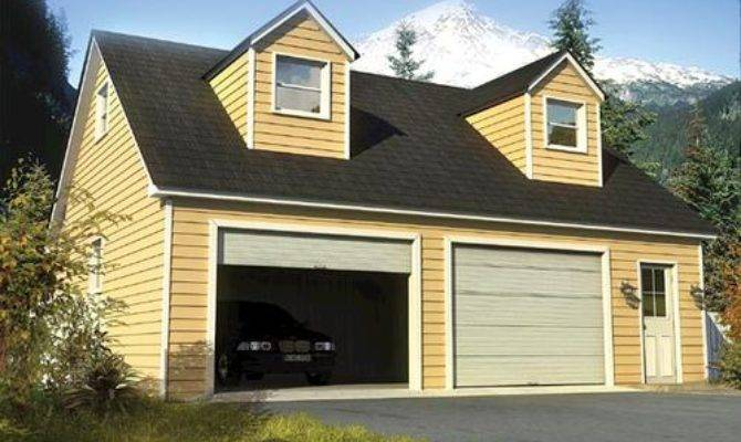 Two Car Cape Cod Garage Building Plans Only Menards