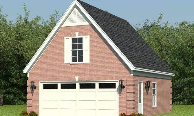 Two Car Garage Plans Loft Plan Reverse