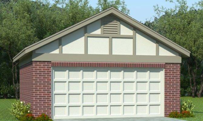 Two Car Garage Plans Plan Reverse Gable