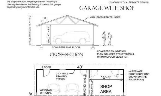 Two Car Garage Shop Behm Plans