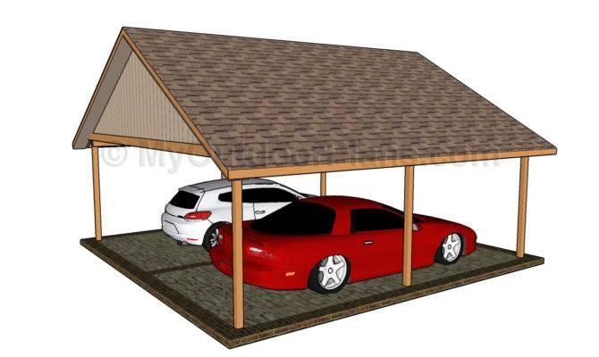 Two Car Wood Carport Plans Pdf Wheelchair Ramp