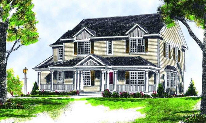 Two Covered Porches Architectural Designs