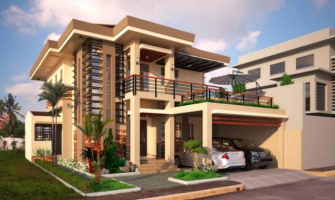 Two Double Storey Houses Small Balcony Amazing