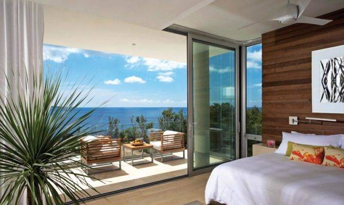 Two Modern Villas Built Cliff Caribbean Island