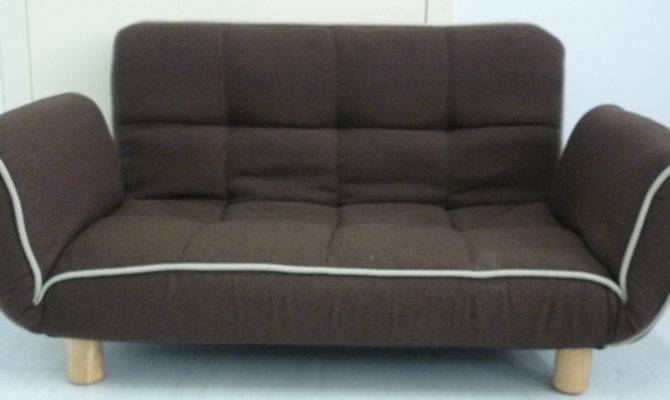 Two Seater Armrest Foldable Floor Wooden Feet Sofa Bed Alk
