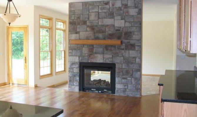 Two Sided Fireplace Home Pinterest