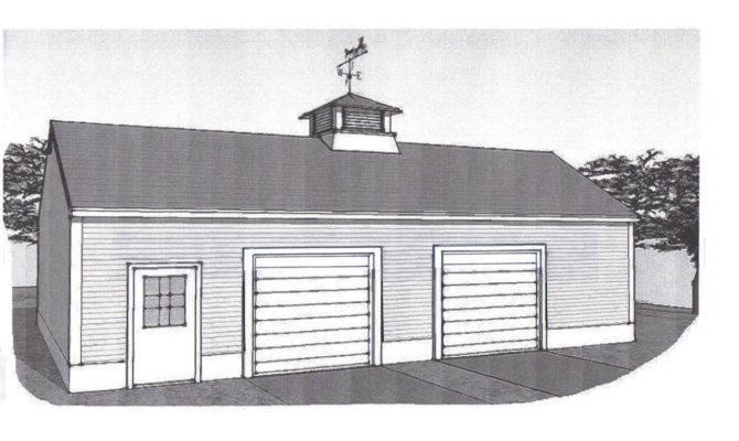 Two Stall Car Garage Building Plans Blueprints
