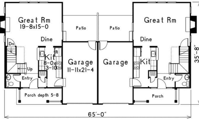 Two Storey Duplex House Plans Home Design Style