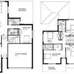 Two Storey House Design Floor Plan Modern