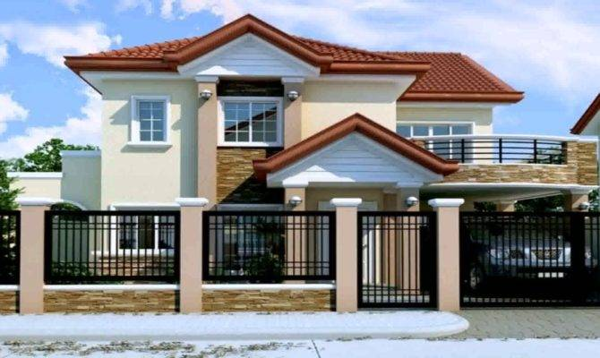 Two Storey House Design Floor Plan Philippines Youtube