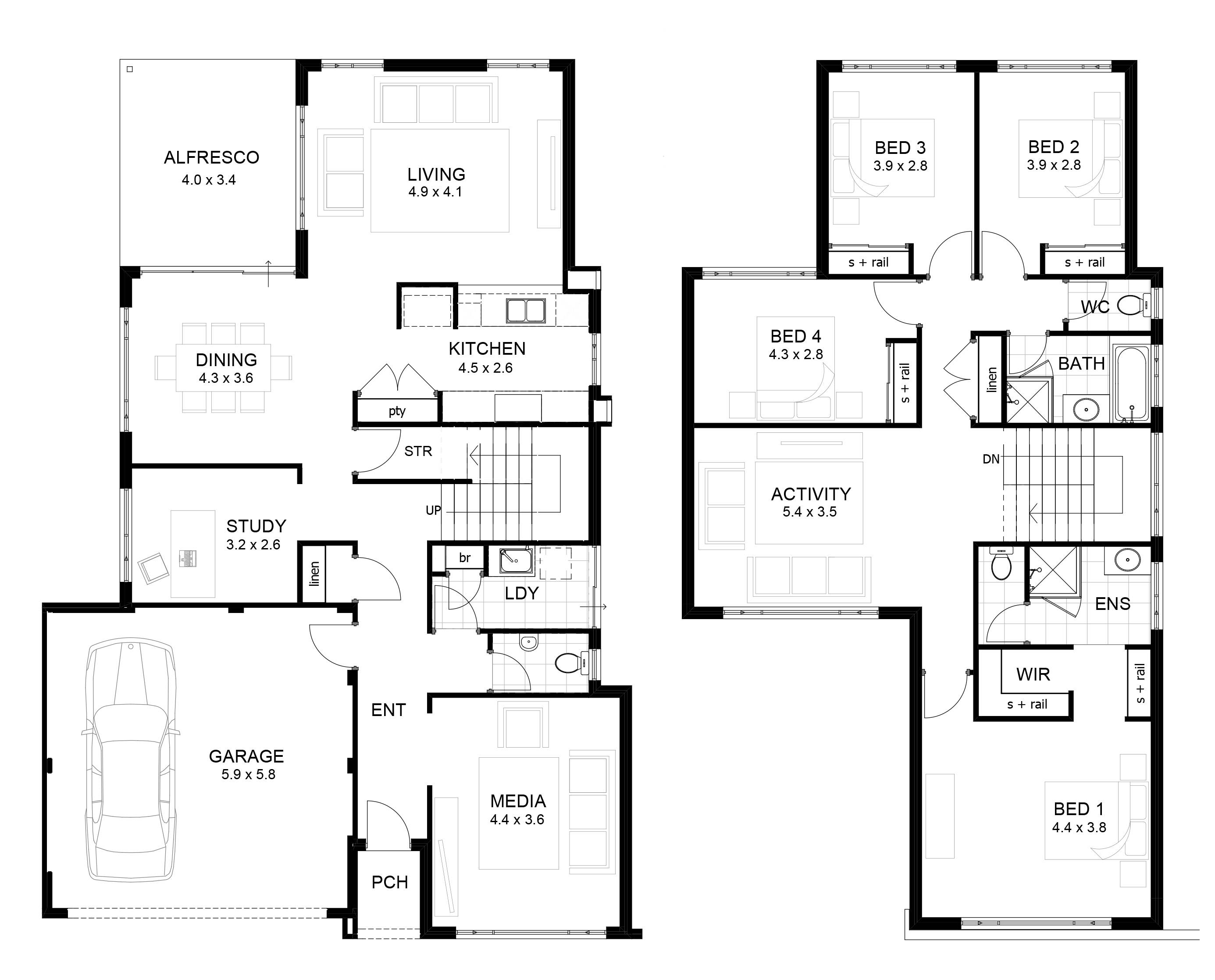 Two Storey House Floor Plan Homes Plans House Plans 96069