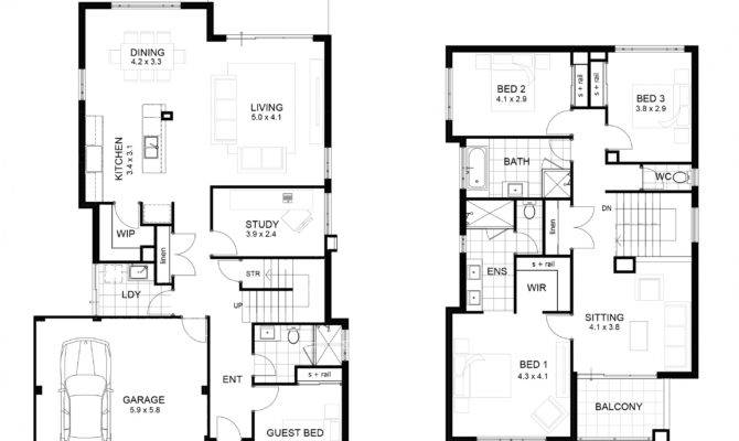Two Storey House Floor Plan