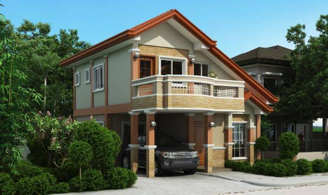 Two Storey House Plan Balcony Amazing Architecture