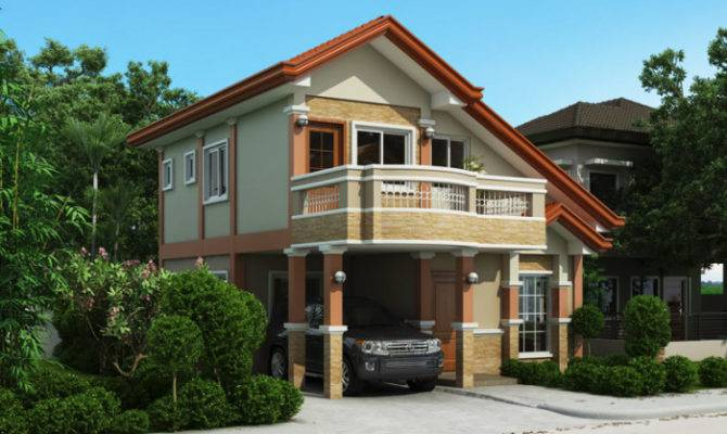 Two Storey House Plan Balcony Pinoy Plans