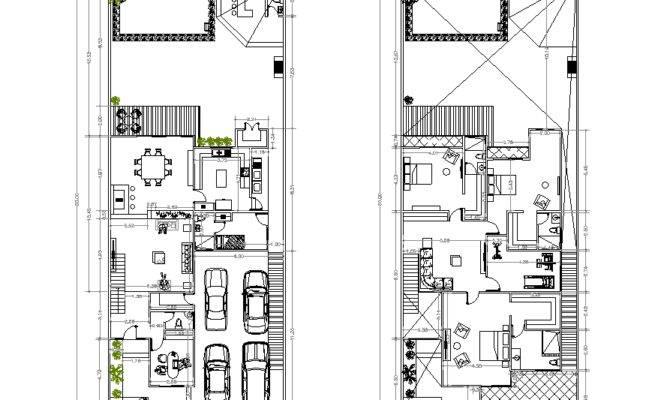 Two Storey House Plan Cad Drawing Cadblocksfree