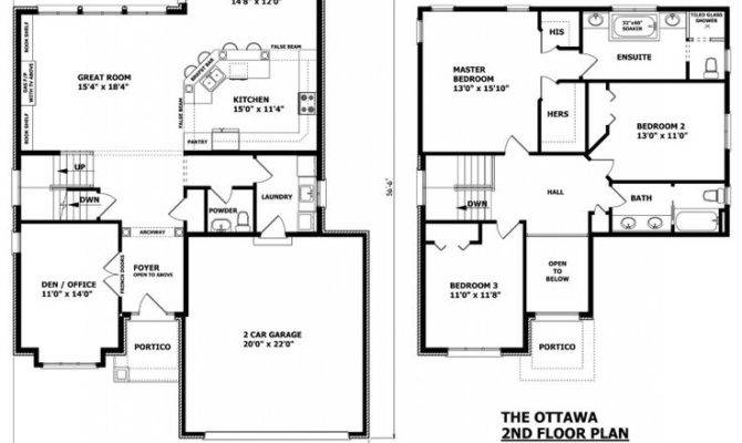 Two Storey Modern House Plans Homes Floor