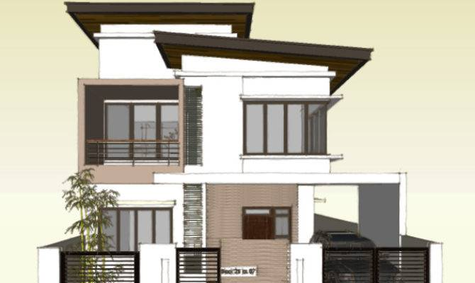 Two Storey Roof Deck House Plans 89634