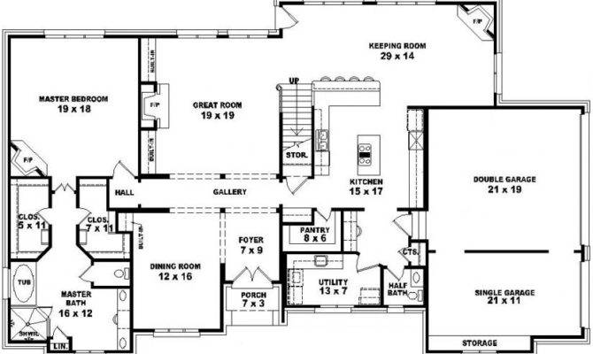Two Story Bedroom Bath French Style House Plan