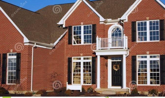 Two Story Brick House Plans Custom