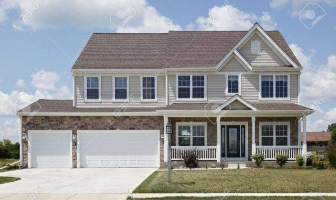 Two Story Brick House Plans Front Porch