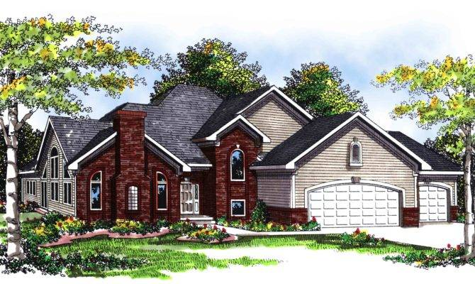 Two Story Brick Siding Home Plan