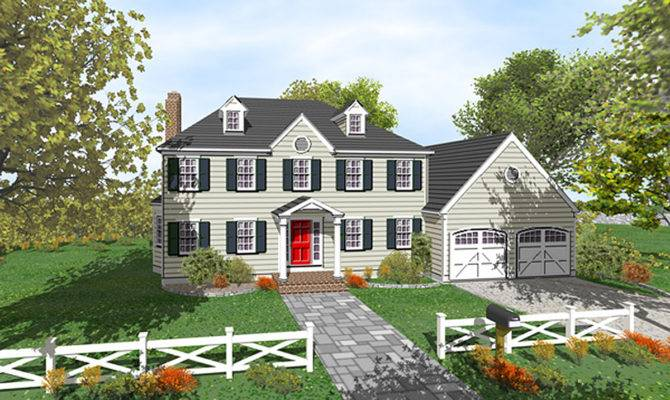Two Story Colonial Open Floor Plan