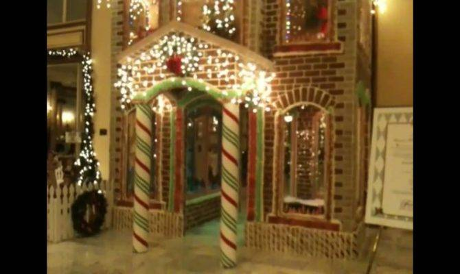 Two Story Gingerbread House Fairmont Hotel San