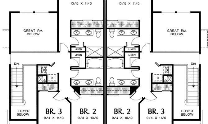 Two Story Great Room Quiet Duplex Floor