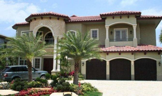Two Story House Balcony Mediterranean Style Dream Home