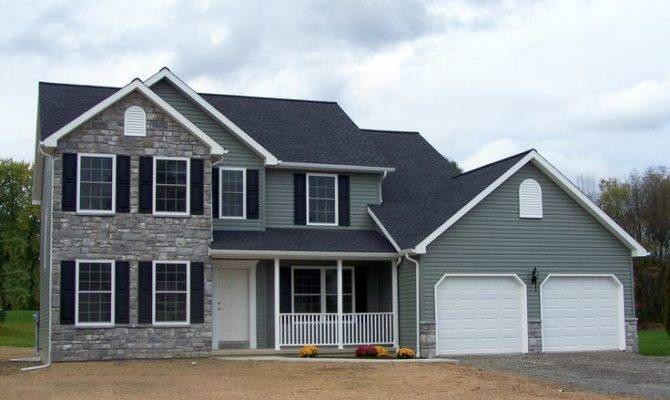 Two Story House Central Southern New York Home Plan