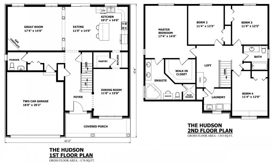 Two Story House Floor Plan Designs House Plans 82049