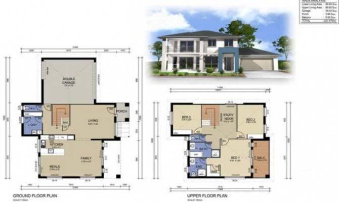 Two Story House Floor Plans Design Inside Modern Small