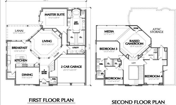 Two Story House Floor Plans Simple