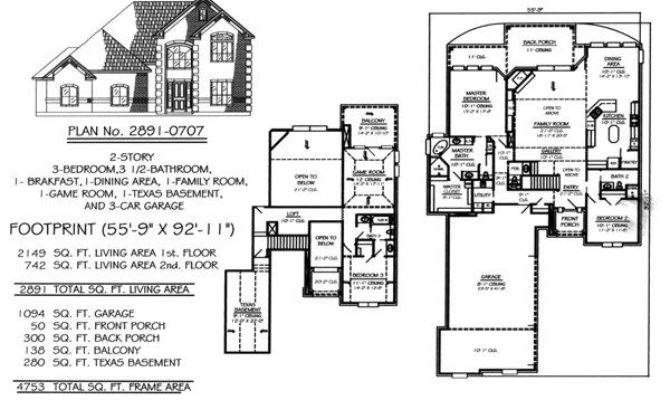 Two Story House Plans Basement Lovely