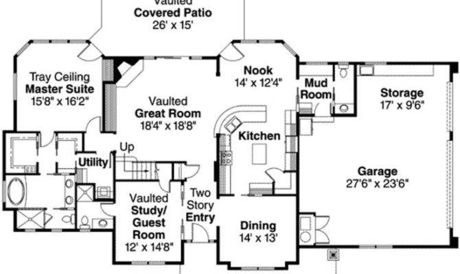 Two Story House Plans Master Second Floor