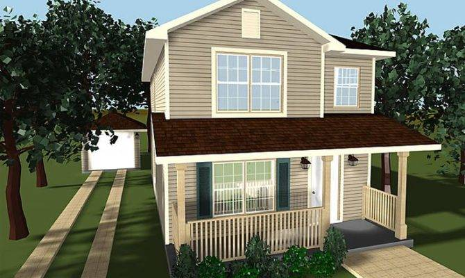 Two Story House Plans Porches Small Home