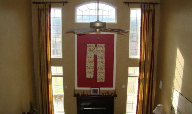 Two Story Room Curtains Pinterest
