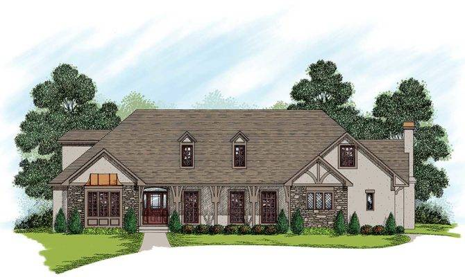 Two Story Traditional Home Plan Architectural