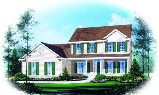 Two Story Traditional Home Plan Design