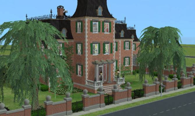 Twoflower Sims Lots Sim Lane Makeover Goth